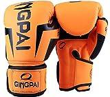 Hijos Adultos Patada Rosa Guantes De Boxeo Muay Thai Luva De Boxe Hombres De Formación De Mujeres De La Lucha De MMA Grappling Guantes De Boxeo Zzib (Color : Orange, Size : 6oz)