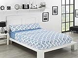 NH NOVOTEXTIL HOGAR Juego de sábanas de coralina 3 Piezas Varias Medidas,Modelos y Colores (Cama 135, Hudson)