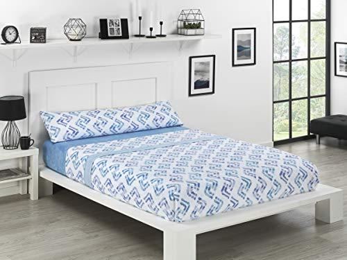 NH NOVOTEXTIL HOGAR Juego de sábanas de coralina 3 Piezas Varias Medidas,Modelos y Colores (Cama 150, Hudson)