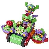 SUPERTHINGS Spike Roller – Gran vehículo con dos vehículos acoplables, 3 SuperThings y 1 Kazoom Kid exclusivos