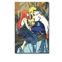 大人のためのアニメナルト5Dダイヤモンド塗装キットフルドリル、ダイヤモンドアートラインストーン刺繡クロスステッチクラフト装飾(正方形50x60cm)でペイント(スクエア50x60cm)