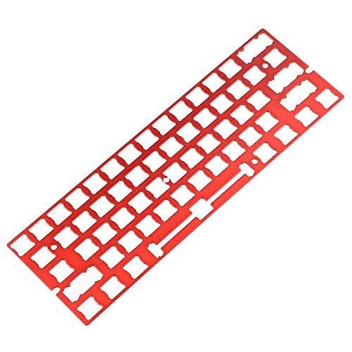 キーボードDIYキット GH60 60%のキーボードのANSIコスターPCB安定剤アルマイト安定剤ポジショニングボードサポートプレート (Asse del corpo : Plate Only, Colore : Red)