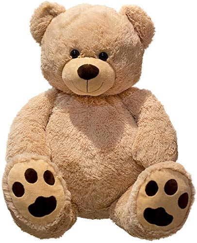 Lifestyle & More Giant Teddy Bear coccolo XXL 100 cm di Altezza Peluche Vellutato Peluche Morbido - per Amore