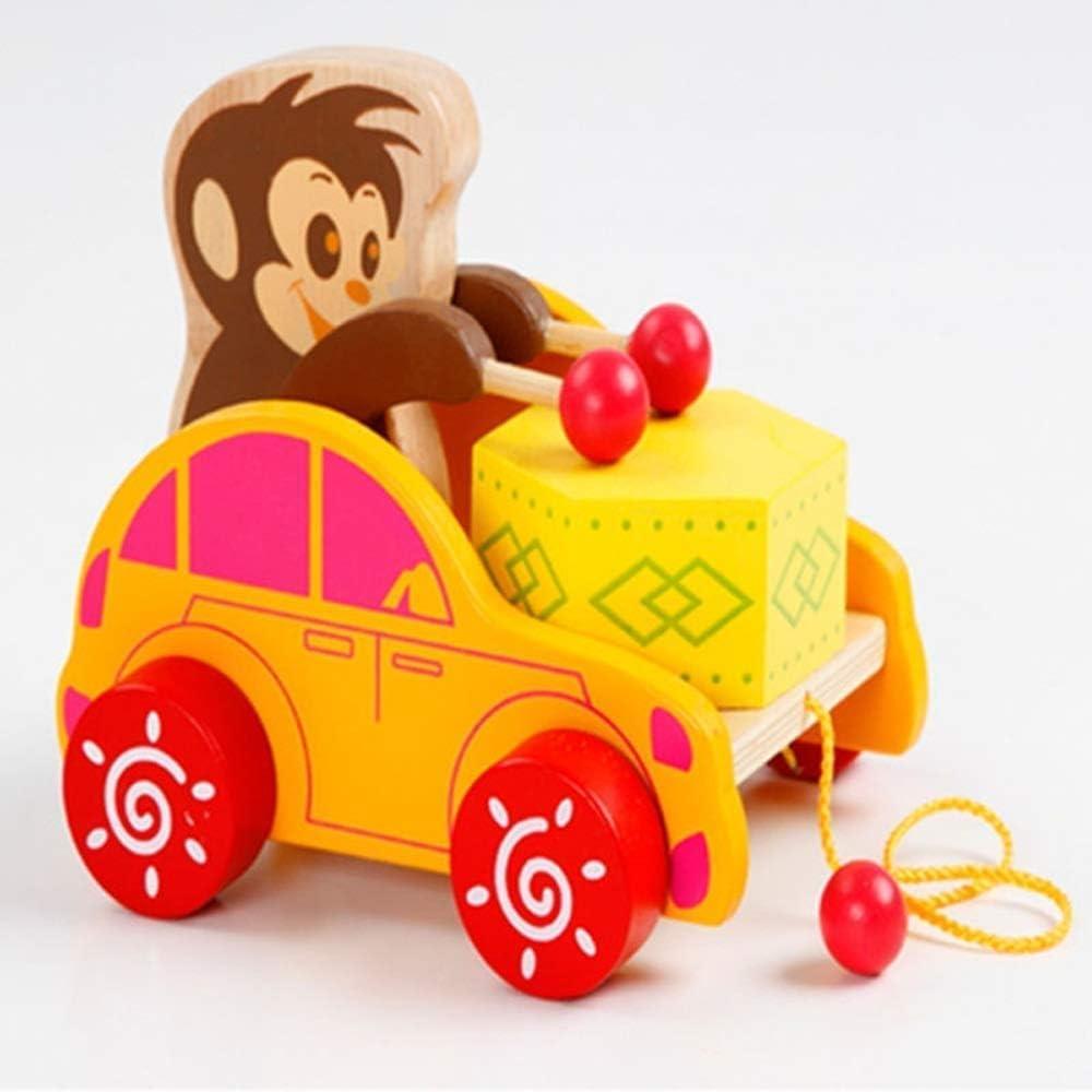 Ladan Cute Little Popular standard Monkey Drum Child Education Very popular Early Toy Trailer