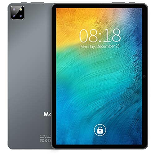 Tablet 10 pollici 4GB RAM 64GB ROM 8-Core 1.6 GHz 5G WiFi Android 10 Pro MEBERRY 1920x1200 FHD IPS Tablets, 8000 mAh Batteria, Tripla Fotocamera(5MP+8MP)/Bluetooth 5.0/GPS/Face ID/OTG, Grigio