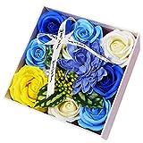 Rose Seifenblume Seife Blumenstrauß Seifenblume Rose mit Geschenkbox Rose Soap Blumen in...