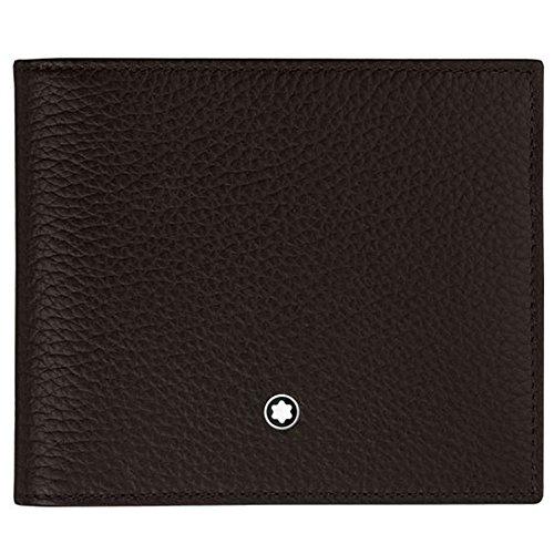 MST Soft Grain Wallet 8cc  Brown 2 compartimentos para billetes, 2 bolsillos adicionales Diseño elegante y cómodo de llevar Todos nuestros productos están identificados con un emblema Montblanc Tamaño: 11,5 x 9,5 x 2