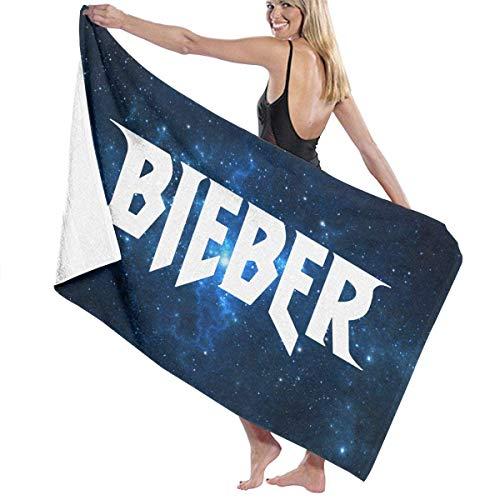 AGSIGGSGO Toalla de baño Justin Bieber - Toallas de playa ligeras y grandes