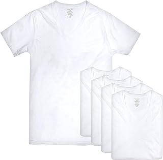 فان هيوزن للرجال 5 حزم الخامس الرقبة قميص داخلي