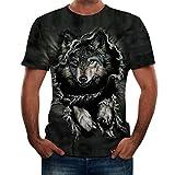 NPRADLA T Shirt Mode pour des Hommes Lettre ÉPissage Impression Chemise Court Manche...