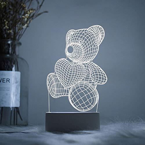 YLSMN 3D luz de noche acrílico LOGOTIPO personalizado lámpara de mesa red rojo estudiante inicio maestro de escuela festival Festival de Medio Otoño regalos creativos