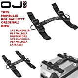 Tres Asas para Maletas para baúles rígidos Originales BMW M143 2 Laterales + M144 1 Trasero OJ Atmosfere Regulables Negro