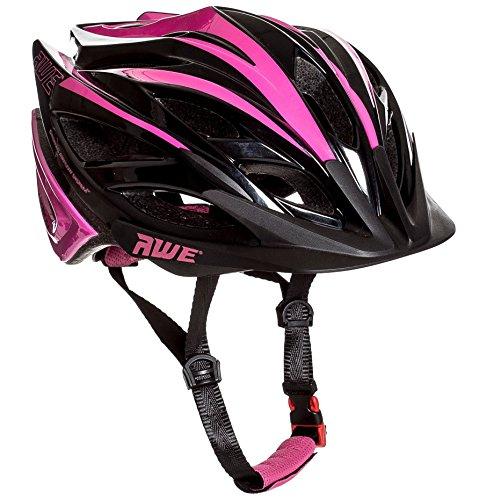 AWE® AWEBlade™ Kinder-Fahrradhelm, 52 - 56 cm, Pink / Schwarz