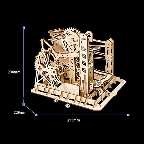 Houten driedimensionale puzzel 3D-model geassembleerd educatief speelgoed handgemaakte doe-het-trackball volwassen hoge moeilijkheidsgraad-Ladder + stuur 9 productietools