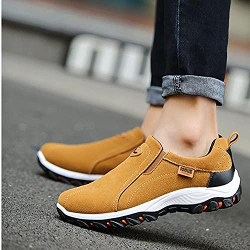 2021 Ligero Zapatillas Nuevo para Trekking Hombres, AL Aire Zapatos Deporte Transpirables para Hombre,Verano Casual Running Gimnasio Antideslizantes Calzado Deportivosbrown-EU42/US10