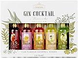 Modern Gourmet Foods, Premium Gin Cocktail - Mélanges pour Gin - Coffret Cadeau, 70 mL chacun, Lot de 5 (Sans alcool)