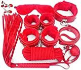 E-DIDI 10 piezas de color rojo, con hebillas ajustables, estirable, cuerpo completo, equipo y accesorios de flexibilidad y fisioterapia, fitness seguro y cómodo kit de práctica de yoga -A389