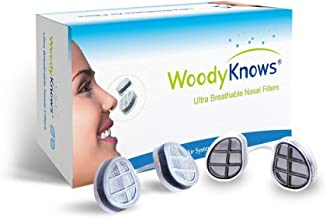 WoodyKnows Ultra Breathable Nasal Mask, Nose Respirator (Slotted Nostrils, Multi-Size Pack(4 PCs))