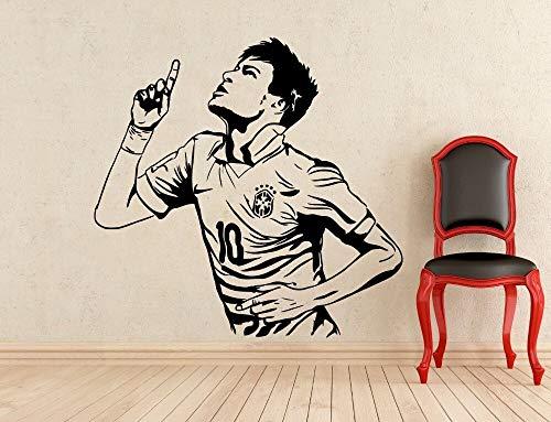 Brasil Super Star Neymar 10 fútbol jugador de fútbol calcomanía deportiva habitación de los niños dormitorio decoración del hogar pegatina de pared cartel vinilo coche pegatina regalo de niño