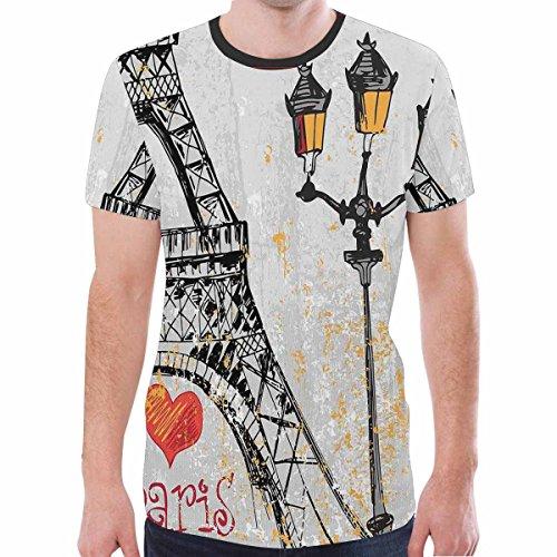 Longsheng Men's Fashion Round Neck Tops Short Sleeve Blouse Casual T-shirt