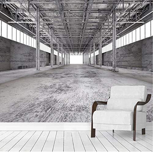 Muurschildering Fotobehang Mural Factory Bouwen Industriële Wind Cement Muur 3D Ruimte Woonkamer Eetkamer Achtergrond Muurschildering Decoratie Niet-geweven 200x140cm