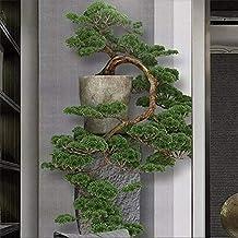 MUMUWU Chinese Zen Three-dimensional Pine Tree Porch Decorative Painting Custom Large Mural Green Wallpaper Mural (Color :...