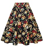 GenericC Womens Swing Casual High Rise Floral Pleated Mini A Line Skirt 14 S...