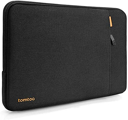 tomtoc Recycled Laptop Sleeve Designed for Dell XPS 15, Surface Laptop 3 15 Inch, 14' HP EliteBook | 14' HP Stream Laptop, 360° Protective Notebook Accessory Case Bag, Water-resistant, Black
