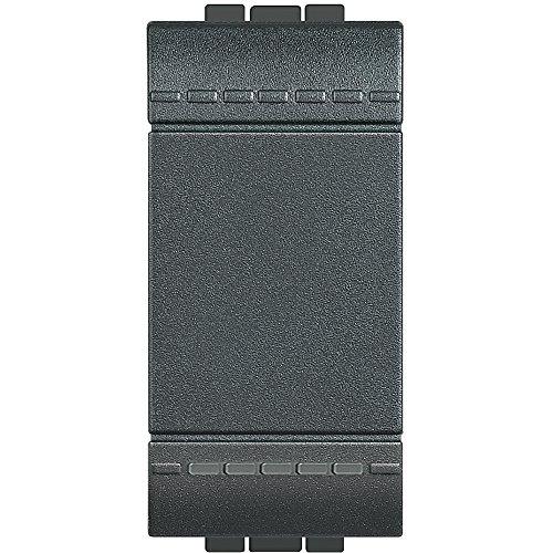 BTicino SL4003NF FP LL Deviatore 1P 16A 1 m, Antracite, 1 Pezzo