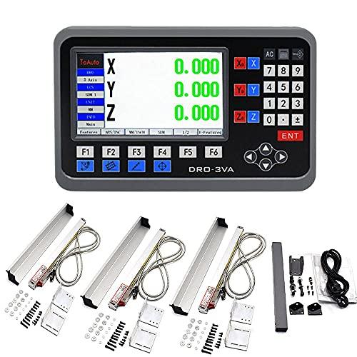 ToAuto - Kit de pantalla digital de 3 ejes DRO con indicador digital de 3 ejes para fresadoras CNC (elevación efectiva: 150 mm + 300 mm + 550 mm)