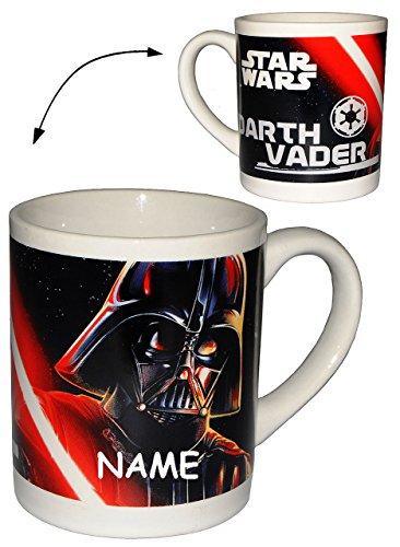 alles-meine.de GmbH Henkeltasse -  Star Wars - Darth Vader - Luke Skywalker  incl. Name - Porzellan / Keramik - Trinktasse mit Henkel / Tasse Becher - Porzellantasse Tassen für..