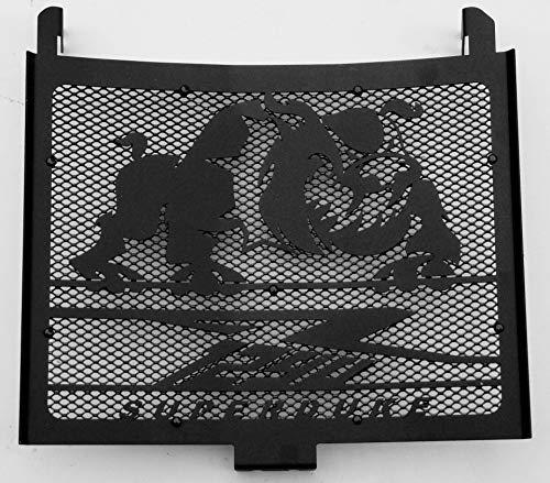 Cache radiateur/Grille de radiateur 1290 R Superduke Tous modèles Noir satiné Bulldog + Grillage Noir