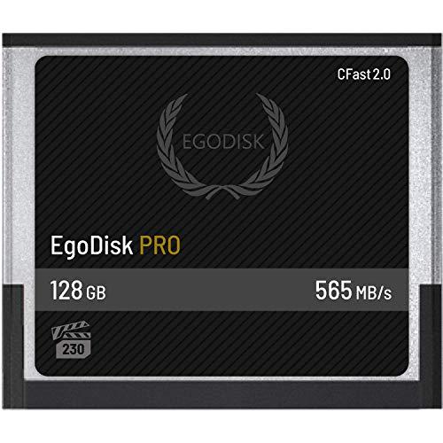 Egodisk Pro 128GB CFAST Card 2.0–(Blackmagic Design URSA mini | Bmpcc | 4K 4.6K | Canon XC10XC151DX Markii C200C300| Hasselblad h6d-50C h6d-100C | Atomos | VEO S)–3anno di garanzia