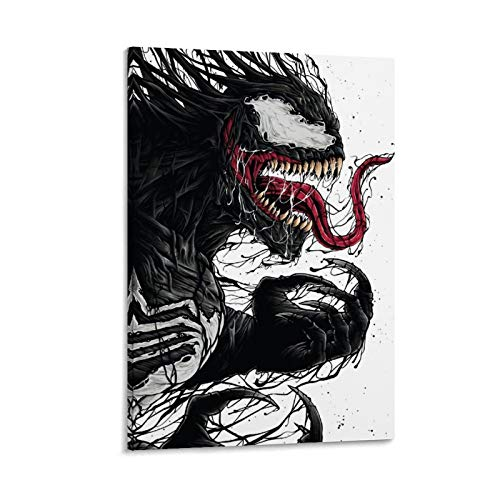 NUOMANAN Venom Spiderman Superhéroe película decorativa lienzo para pared de 40 x 60 cm, decoración de pared para habitación de niños, imagen de acuarela sin marco/enmarcado