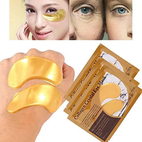 Máscara de ojo de colágeno 10 unids mujeres máscara de ojo de colágeno anti arrugas envejecimiento crema hidratante parche párpado