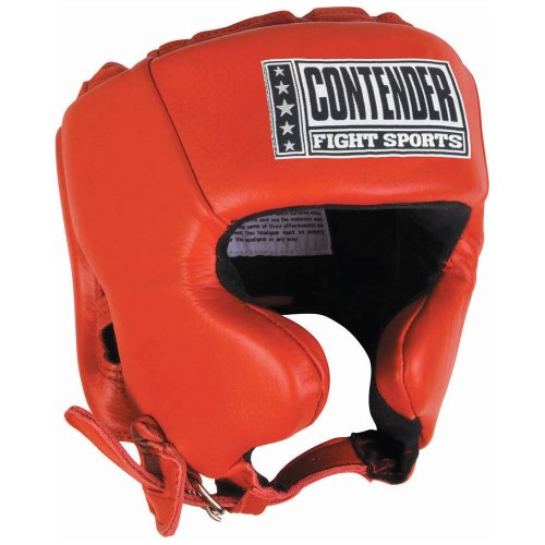 Contender Fight Sports Competition Headgear, Red, X-Large