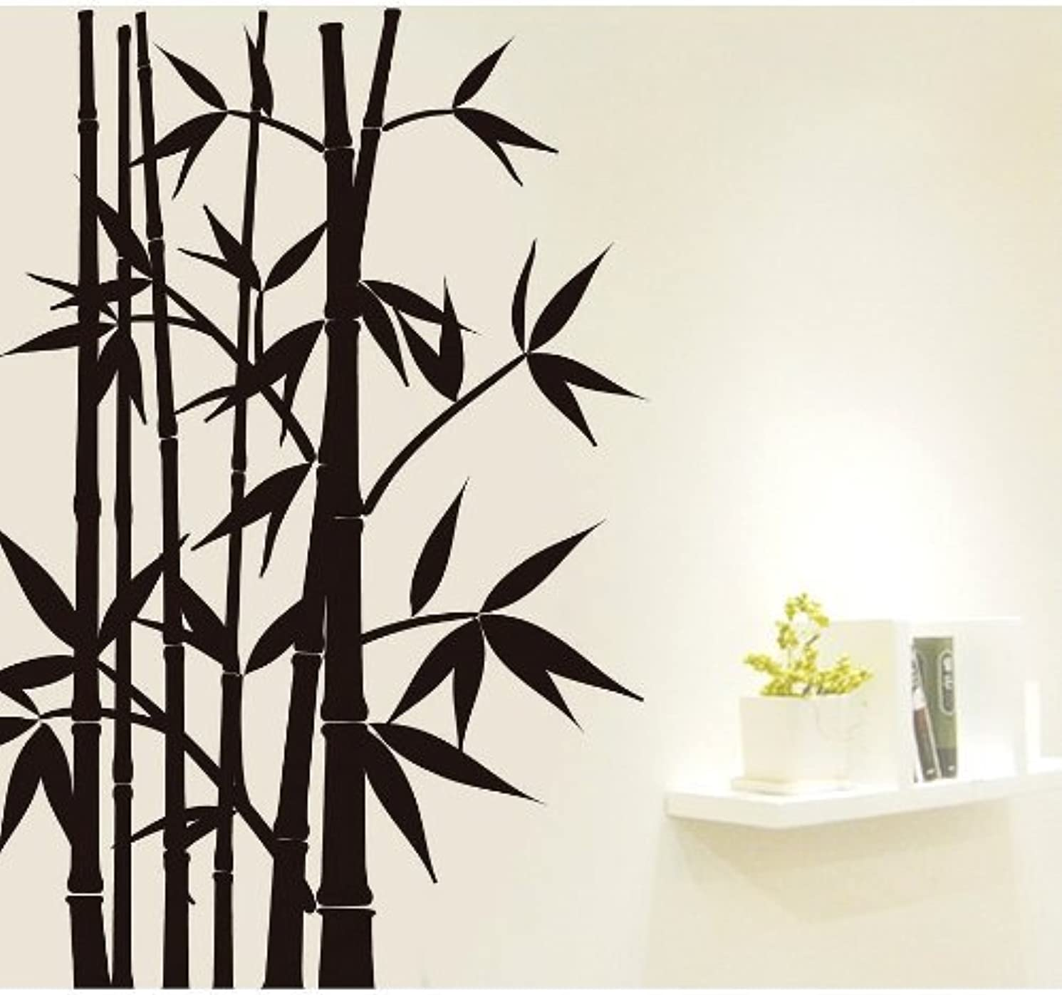 Createforlife Home Decorative Vinyl Wall Sticker and Wall Decals Bamboo Tree Black Wallpaper