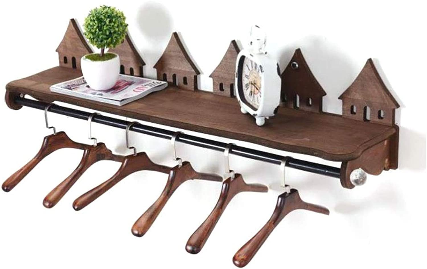 Coat Rack Clothing Store Display Stand Wooden Coat Rack On The Wall Side Side Hanger (Size   80cm25cm27.5cm)