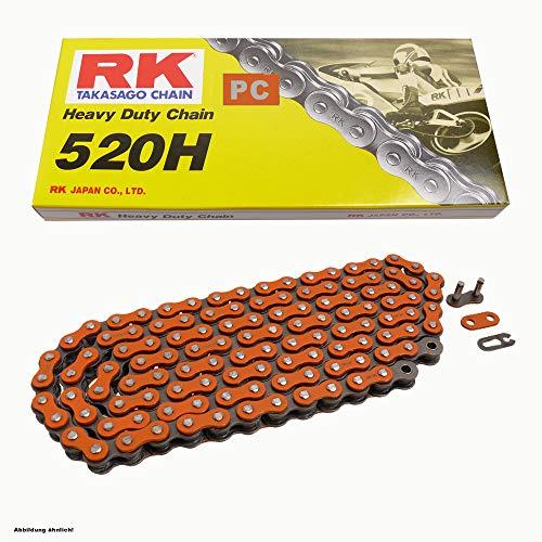 Chaîne moto in Orange RK pc520h de 88 Rouleaux et clip Serrure, ouvert