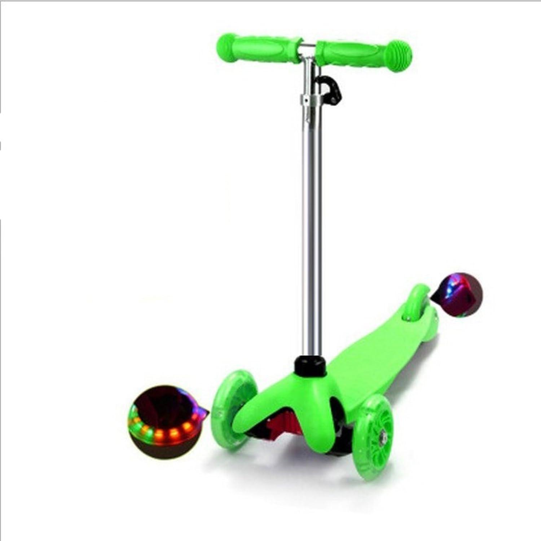 Nclon Kinder Scooter 3 Rder Einstellbar,Tretroller Kinderroller Ab 3-12 Jahre Belastbarkeit bis 50kg-grün
