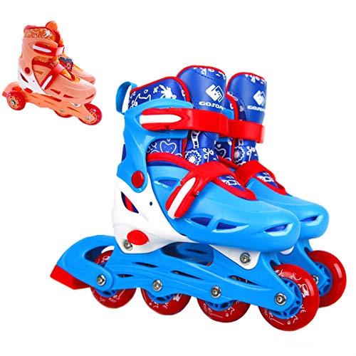 Boys Girls Adjustable Inline Skates Roller Skates 2 in 1 Convertible Speed Roller Skates Shoes for Children Kids Teens (Fresh Orange, M)