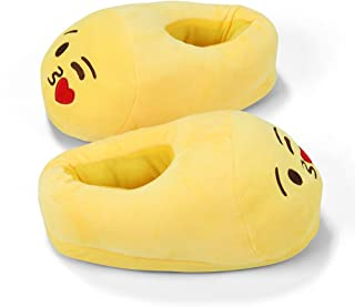 Lua House Slippers for Women Plush Fluffy Memory Foam Slippers Warm and Cozy Home Shoes for Indoor or Outdoor Yellow