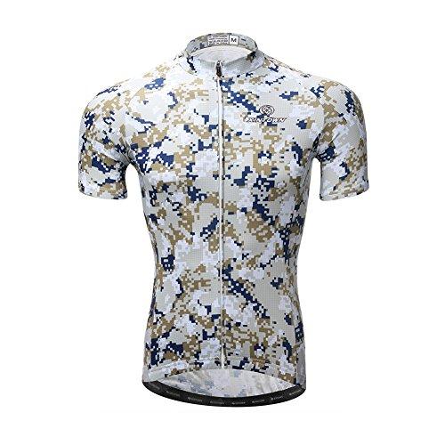 Amur Leopard Maillot de Cilismo para Hombre Camiseta Ciclismo de Manga Corta...