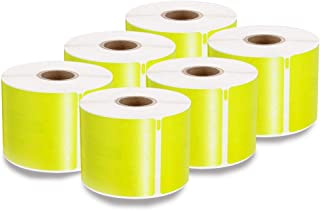 enKo [6 Rolls, 1800 Labels] Address, Shipping & Barcode Labels 30256 - Yellow (2-5/16 x 4