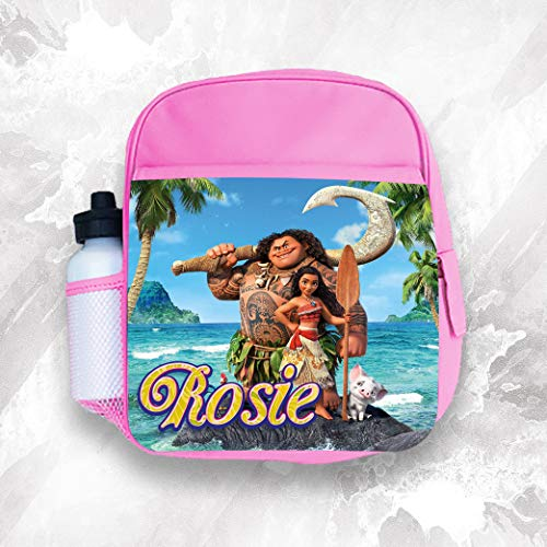 Personalised Kids Backpack Any Name Moana Girl Childrens School Bag 4