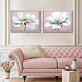 Large Modern Framed Wall Art Decor Flower...