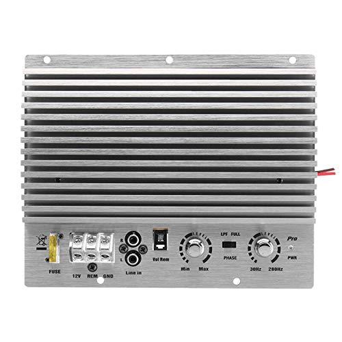 Iljgxf 12V 1000W Amplificador de Potencia de Audio para Coche Subwoofer Placa amplificadora de Potencia Mono Audio DIY Placa amplificadora Reproductor de Coche