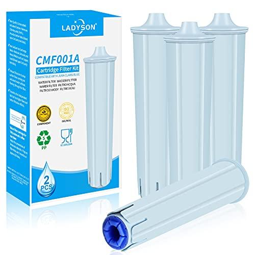 LADYSON Jura Claris Blue - Cartucho de filtro de agua para cafeteras automáticas Jura, compatibles con GIGA, ENA, ENA,...