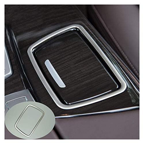 Marco de altavoces estéreo de acero inoxidable para el salpicadero del coche...