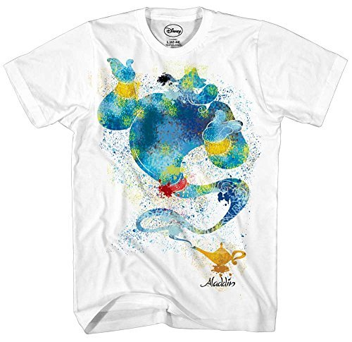 Qian Mu888 A-la-dd-in Genie Ink Blob A-ll-a-d-in Lámpara Película Mundial Di-sn-ey-Land Divertido Hombre Adulto Gráfico Camiseta Ropa